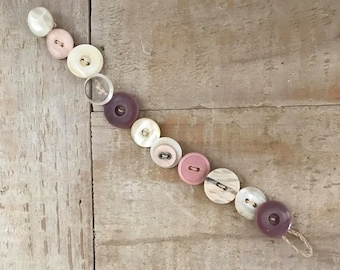 Shabby Chic Handmade Button Bracelet