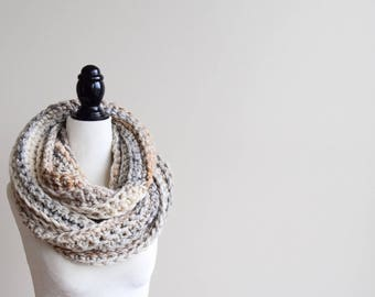 FOSSIL Crochet Infinity Scarf | Crocheted Scarf | Infinity Scarf