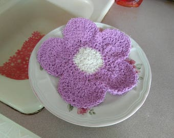Crochet Scrubby Dish Cloth - Pot Scrubber Rag
