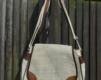 Shoulder bag made of 100% hemp natural