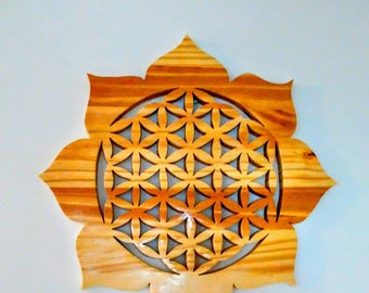 Lotus flower of life. (Hand crafted)