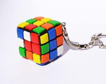 Keychain rubik's cube in Fimo