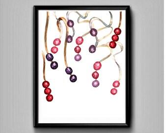 Boho Beads-Printable art-Boho decor-Boho wall decor-Boho print-Boho printable-Boho wall art-Boho printable sign-Boho art print-Boho wall art