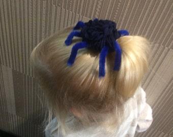 Spider Hair Bow, Halloween Hair Clips, Black hair clip, Spider Barrette, Spider Cosplay, Spider Costume, Arachnid Costume, Spooky Hair Clip