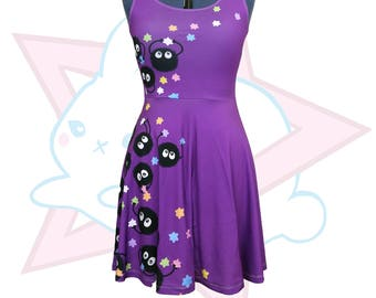 Soot Sprite | Studio Ghibli | PURPLE Skater Dress