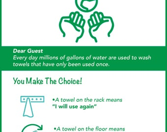 Friendly Towel Sign