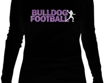 Bulldog Football SVG File for Tshirts and Decals
