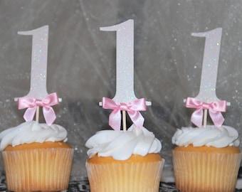 Custom number birthday cupcake topper
