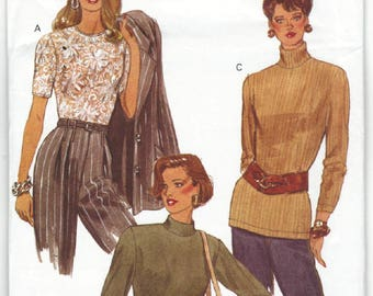 8446 Very Easy Very Vogue - Misses Pullover Top - UNCUT Sewing pattern Sz. 6-8-10