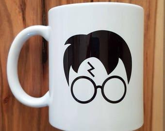 "11 oz ceramic mug - ""Iconic glasses"""