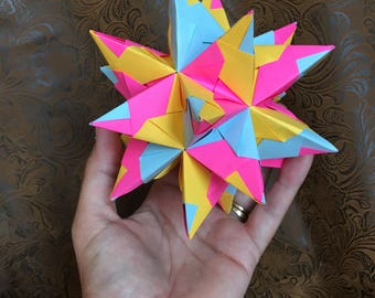 Origami Ball - Stellated, Tornillo, Dodecahedron