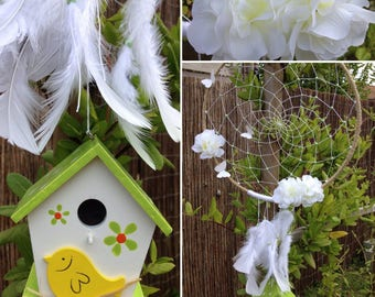 Dream catcher spring yellow green and white
