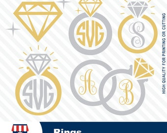 Rings, rings file, rings SVG, cricut, diamond wedding, digital cutting file, cameo, spring svg, dxf, png, pdf, #024-svg