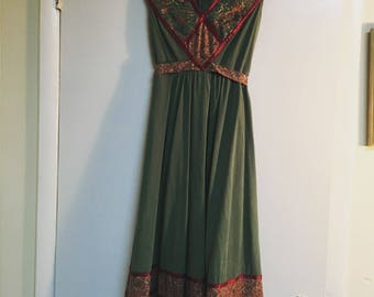 Vintage 70's peasant dress