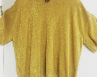 Vintage 70's gold short sleeved top