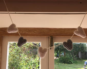Blue and White Hanging Hearts