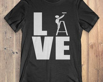 Electrician T-Shirt Gift: Love Electrician