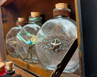 Steampunk Bottles with Belt Loops