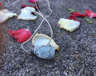 Aquamarine Crystal Wrap Necklace