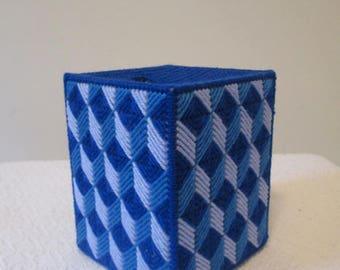 Geometric Shapes Needlepoint Tissue Box Cover