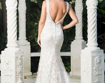 designer wedding gown sample RB355