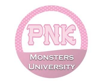 Python Nu Kappa Button - PNK Button - MU Button- Monsters University Button - Monsters Inc Button - Sorority Button - Theme Park Button