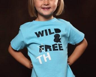 Wild and Three - 3 year old birthday shirt - Toddler Birthday Shirt - Unisex Toddler Shirt - Girl Birthday Shirt - Boy Birthday Shirt