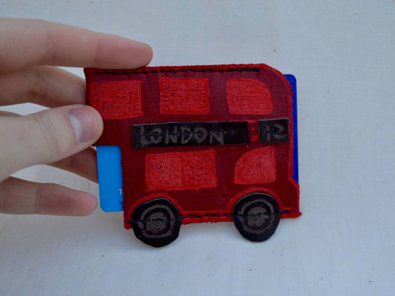 London Bus Oyster Card Holder Travel Wallet Bus Pass Holder-1327