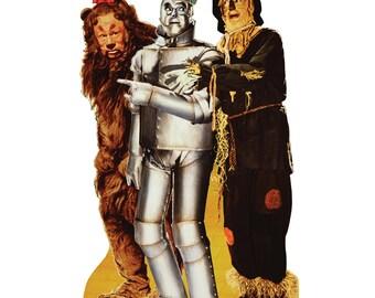 Lion, Tin Man, and Scarecrow Life-Size Cardboard Cutout
