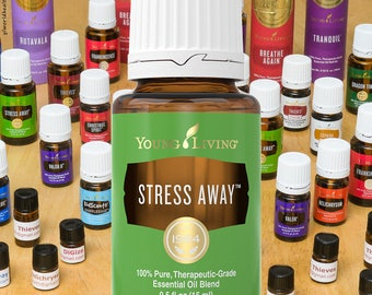 Young Living Stress Away Essential Oil sample; 1mL, 1.5mL, 2mL, 3mL sample