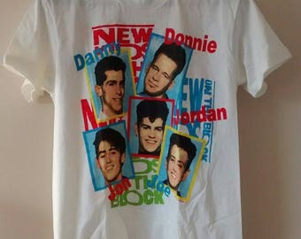 Vintage New Kids On The Block T-Shirt, Medium, NKOTB, With Tags, Made in USA, NOS