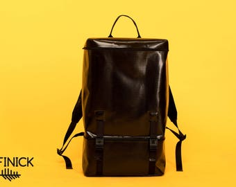 Backpack T1010, Handmade backpack, Travel backpack, Laptop backpack, Vegan backpack, Womens backpack, Mens backpack, Waterproof backpack