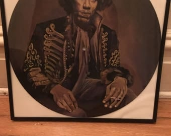 Jimi Hendrix Hand Painted Record