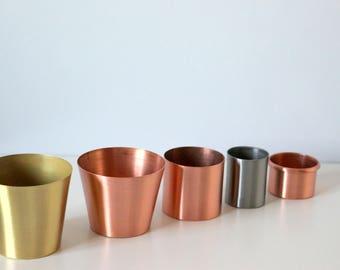 Copper Planter, Copper Craft Guild Succulent Air Plant Planter, Rustic Copper  Decor, Copper