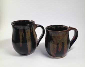 pottery mug, coffee mug, tea mug, ceramic mug, set of mugs, handmade pottery, Beth Deutscher