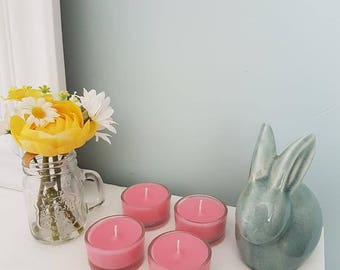 Scented Glass Tealights - bespoke - handmade - home decor - candles - highly fragranced