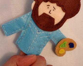 HAPPY PAINTER Handmade finger puppet.