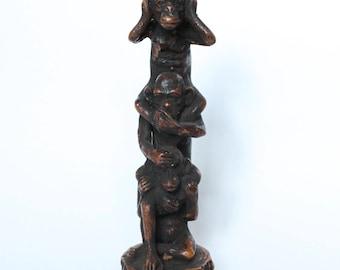 Hear, Speak, See NO EVIL Monkey Sculpture