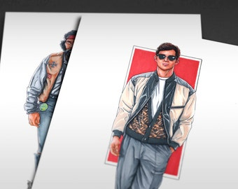 1986 Ferris Bueller's Day Off Iconicharacter Art Print