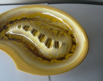 Mid Century vintage yellow ashtray
