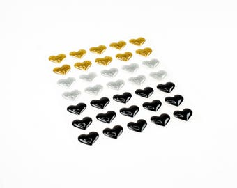 35 pieces heart stickers.