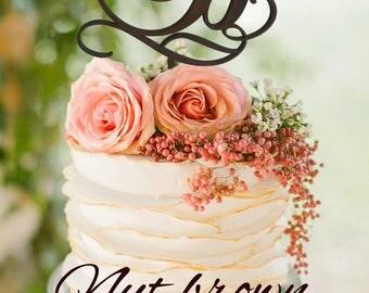 Letter b cake topper Monogram Wedding Cake Topper initials Wedding Cake Topper Gold Monogram Cake Topper Custom Wedding Cake Topper Letter B