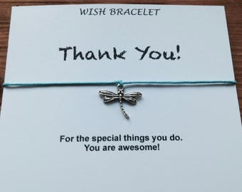 Wish Bracelet, Thank You, Jewelry on card, Coworker gift, Gift for Cousin, Best Friends Gifts, BFF Gifts, Gifts For Her