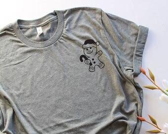 Ginger Bread Gift T-shirt, Christmas T Shirt, Merry Christmas Shirt Unisex Holiday Tee Family Christmas Customizable