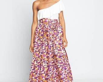 Ankara Long Skirt
