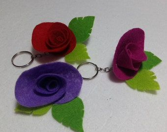 felt keychain  personalized gift for friend  personalized gift for women