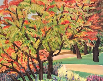 Autumn Trees greetings card