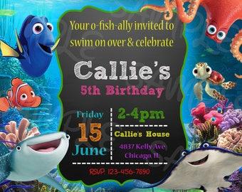 Finding Dory Invitation, Finding Dory Birthday Invitation, Finding Nemo Invitation, Finding Dory Invites
