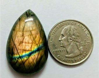 33.15 x 20.85 mm,Pear Shape Labradorite Cobochon/purple Flash labradorite/voilet flash labradorite/wire wrap stone/Super Shiny/Pendant Cabs