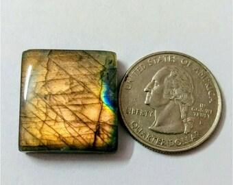 23.25 x 21.45 mm,Cusion Shape Labradorite Cobochon/purple Flash labradorite/voilet flash labradorite/wire wrap stone/Super Shiny/Pendant Cab